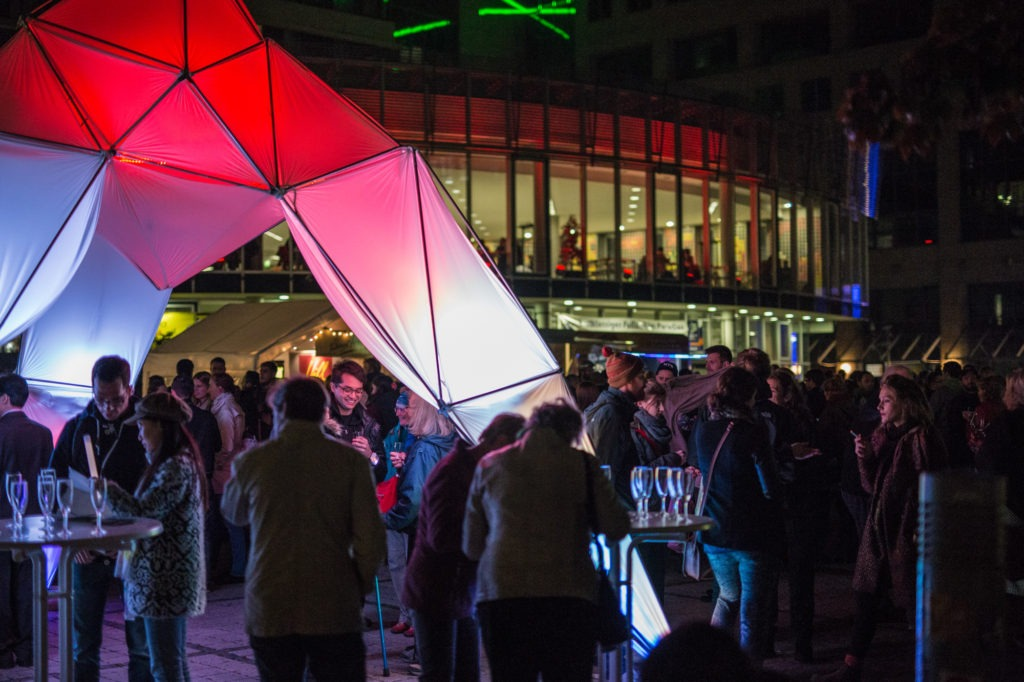 Opening ceremony of Light Catchers at City Visions festival